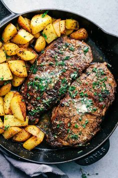 Skillet Garlic Butter Herb Steak and Potatoes – The Recipe Critic
