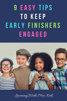 Need ideas to keep your early finishers engaged? This post is full of activities for keeping your elementary students working even when they finish classwork early. Teaching Strategies, Teaching Tips, Teaching Activities, Creative Teaching, Teacher Blogs, Teacher Hacks, Planning School, Early Finishers Activities, Fourth Grade Math