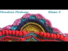 Tutorial Crochet Mandala Madness 5 paso a paso en español - YouTube
