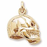 Skull Charm $33 http://www.charmnjewelry.com/category/p2/n250/gold_charms/Hobby_and_Profession_Charms.htm #GoldCharm #CharmnJewelry #RembrandtCharms