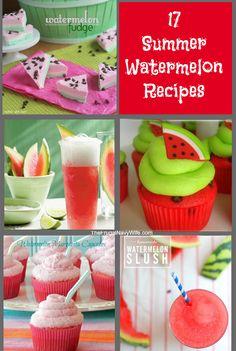 17 Summer Watermelon Recipes #summer #recipes #watermelon thefrugalnavywife.com