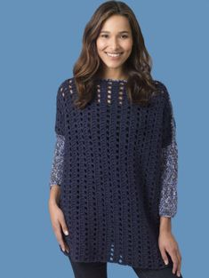 Level 2 - Easy Crochet Pullover. Crochet this cute pullover with 9 balls of Lion's Pride Woolspun and a size K-10.5 (6.5 mm) hook!