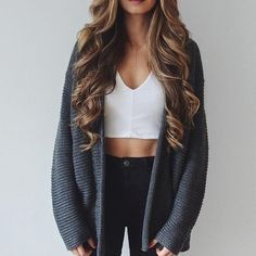 Image via We Heart It #accessoiries #black #cardigan #classy #clothes #clothing #curls #elegant #fall #fashion #girl #hair #hairstyle #inspiration #jeans #jewely #knit #lips #necklace #outfit #outfits #style #stylish #sweater #winter #ootd #love #cathbelle