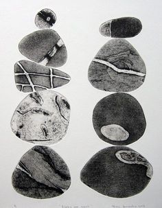 Pebbles are Great 3 (Sepia) - Tessa Horrocks