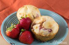 Fresh Strawberries & Cream Muffins | Create Craft Love