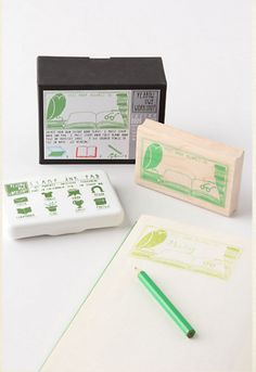 Personalize Your Book with a Stamp Plate -- great for kids & adults alike