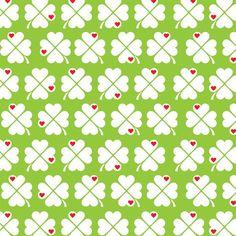 Stoff retro - byGraziela Baumwollstoff Glücksklee grün - ein Designerstück von byGraziela bei DaWanda
