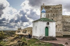 Izborsk by DashaShcherba  Pskov oblast architecture beautiful beauty blue church cloud clouds green light pskov russia russian