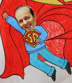 Father's Day Superhero Card Printable