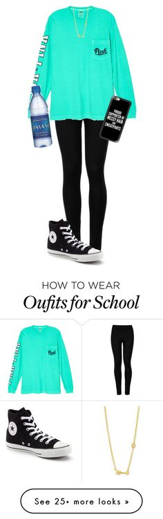"""""""School"""" by garaff on Polyvore featuring Wolford, Victoria's Secret, Converse, Casetify and Sydney Evan"""