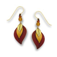 Adajio by Sienna Sky Brass Rust Leaf 3-part Earrings 7023 *** Click image to review more details. (This is an affiliate link and I receive a commission for the sales) #Earring