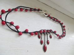 Queen of Beads Crochet Necklace by FleasKnees on Etsy, $25.00
