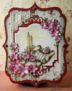 Heartfelt Creations | Magenta Lilies & Candles