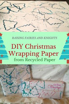 DIY Christmas -Wrapping Paper - Try out this super easy craft to get your toddler involved in wrapping Christmas presents. A great way to dress up a present. #12daysofchristmas link-up