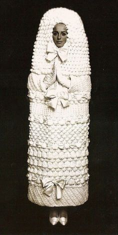Wedding crochet dress by Yves Saint Laurent