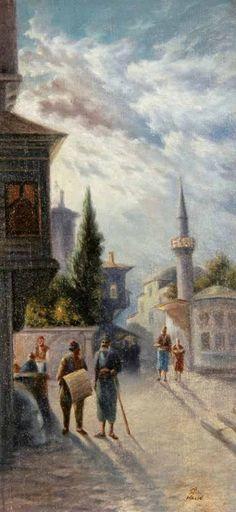 Halid Naci / Eski İstanbul Sokağı