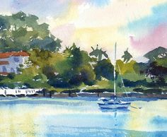 Boat Harbor Watercolor