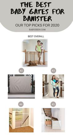 There are numerous types of #baby #gates,  the best banister-to-banister and banister-to-wall gates can be successfully installed without requiring you to drill any holes. Thanks to their unique fastening systems for #banisters, you can gain the peace of mind that your woodwork won't get a new set of holes. Baby Closet Storage, Girls Closet Organization, Baby Room Closet, Nursery Storage, Banister Baby Gate, Baby Gate For Stairs, Stair Gate, Retractable Baby Gate, Best Baby Gates