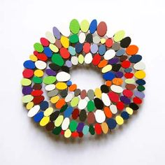 'Maze' brooch in silver and plastics by Rebecca Hannon - a work of art!