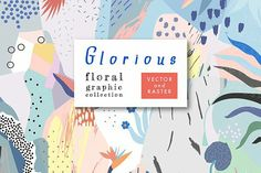 Trendy tropical abstract backgrounds with hand drawn textures- Fresh artistic collection with floral patterns, headers, cards, invitations, posters, calendars.