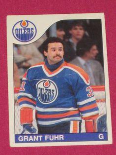 1985 86 207 Grant Fuhr 4th Year O Pee Chee OPC Edmonton Oilers NHL Hockey  Card 209df0cd3