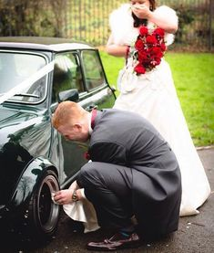 Wedding Photography examples to ponder - Delightfully romantic suggestions. Photo snap id 5628055939 mentioned on 20190815 Vintage Wedding Photography, Wedding Photography Styles, Documentary Wedding Photography, Pet Photography, Car Themed Wedding, Wedding Humor, Funny Wedding Photos, Wedding Pictures, Prom Poses