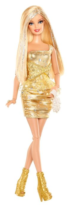 Barbie Fashionista Blonde Doll (Gold): Amazon.co.uk: Toys & Games