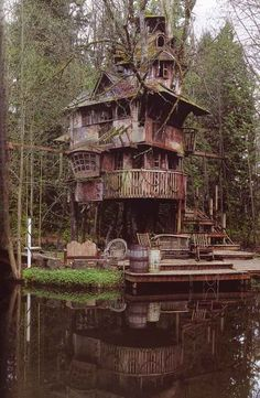 quirky fairy tale house near woods and water