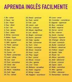 Paps e Moldes de Artesanato English Help, English Time, English Verbs, English Vocabulary Words, Learn English Words, English Course, English Phrases, English Study, English Lessons