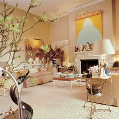 Interior by David Hicks I love this room- quiet elegant and timeless