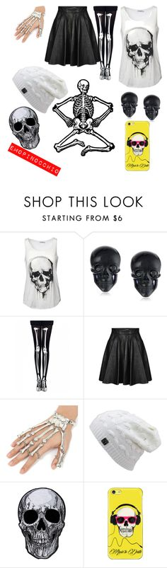 """Skull girl"" by emopinocchio ❤ liked on Polyvore featuring Tarina Tarantino, Jeremy Scott and Casetify"
