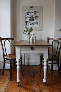 Rustic Vintage Farmhouse Kitchen Pine Table On By ArthurandEde
