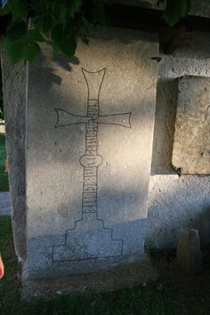 Your Swedish Heritage: The Runestone at Viklau Church, Gotland #Gotland #runestones #runes