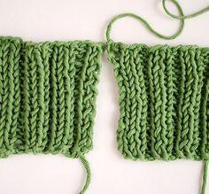 tricoter jersey en biais