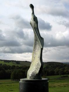 Photograph of Henry Moore's Large Standing Figure: Knife Edge 1961, seen at Yorkshire Sculpture Park, West Bretton, Wakefield, October 2010