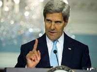 """With the Islamic State of Iraq and Syria (ISIS)  advancing rapidly through Iraq  and posting images of their brutal mass executions, plans have begun to evacuate America's embassy in Baghdad. In Washington, however, Secretary of State John Kerry hosted a conference on the world's real """"vital security issue"""": climate change."""
