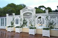 French Riviera. An exclusive park. The green scenery of a historic residence.