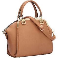 SheIn(sheinside) Apricot Zipper PU Shoulder Bag