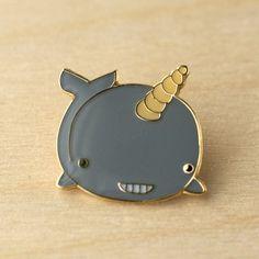 Like!  (via ShanaLogic.com - 100% Handmade & Independent Design! Narwhal Pin - Get Happy!)