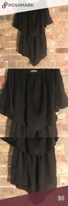 Shwopo black faux silk romper Size AU 10, fits like a US 4-6 Pants Jumpsuits & Rompers