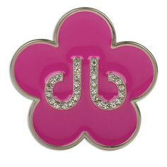 DB Pink Flower Buckle by Druh Belts.  Buy it @ ReadyGolf.com