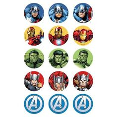 Avengers Cup Cakes