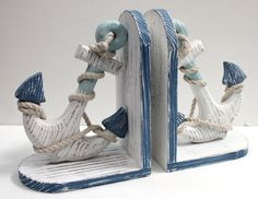 I love these. I hope I can find some. Anchor Book Ends, (http://www.caseashells.com/anchor-book-ends/)