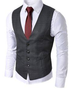 Classic Mens Check Waistcoat Vest