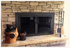 Design Specialties Hammered Edge Fireplace Door, Chattanooga, Tn Hearth And Patio, Fireplace Glass Doors, Family Room, Design, Family Rooms, Living Room, Drawing Rooms