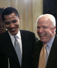 John McCain And President Obama Mr Obama, Barack Obama Family, First Black President, Mr President, Black Presidents, American Presidents, American History, Barak And Michelle Obama, Presidente Obama