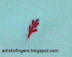 artisticfingers: Chikan embroidery overcast stitch variation tutorial