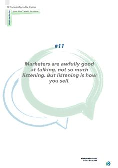 No 11 Marketers are awfully good at talking...