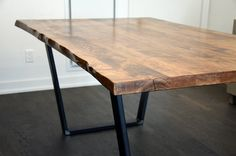 Our Live Edge dining/kitchen tables are made from locally sourced Wormy Maple. Available on a range of different legs which are included in the