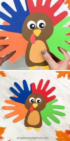 Turkey Handprint Craft For Kids